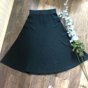 H&M | Dark Teal Knit A-Line Skirt